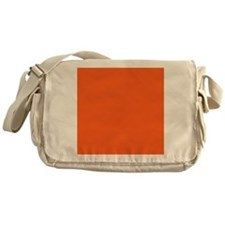 modern plain orange Messenger Bag