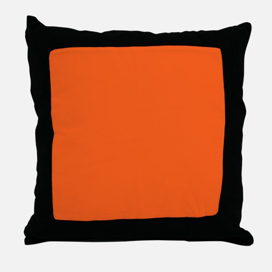 modern plain orange Throw Pillow