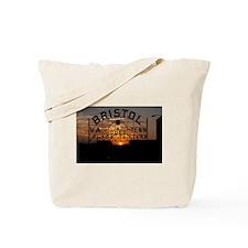 Bristol Sign at Sunset Tote Bag