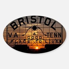 Bristol Sign at Sunset Decal