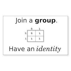 Group Identity Rectangle Sticker