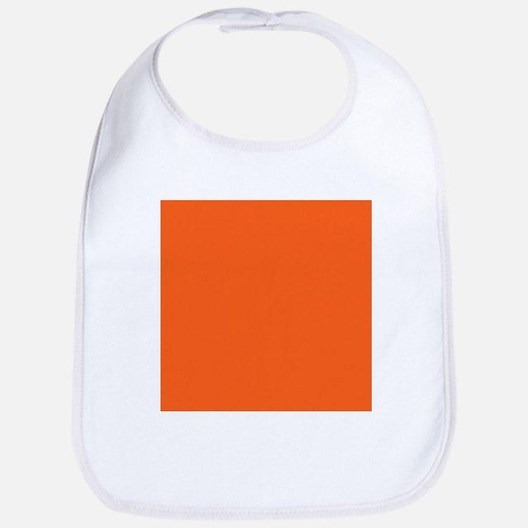 modern plain orange Bib