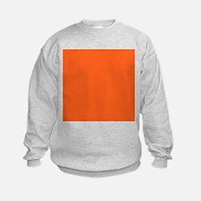 modern plain orange Sweatshirt