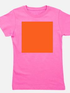 modern plain orange Girl's Tee
