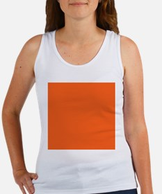 modern plain orange Tank Top