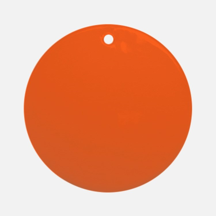 modern plain orange Ornament (Round)