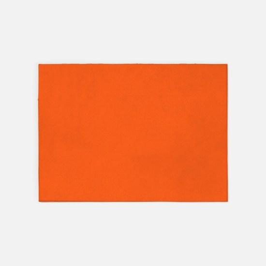 modern plain orange 5'x7'Area Rug