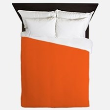 modern plain orange Queen Duvet