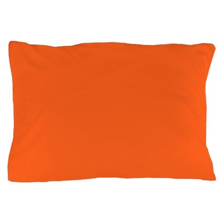 Modern Orange Pillow : modern plain orange Pillow Case by ADMIN_CP62325139
