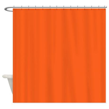 Modern Plain Orange Shower Curtain  Orange Shower Curtain