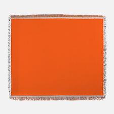 modern plain orange Woven Blanket
