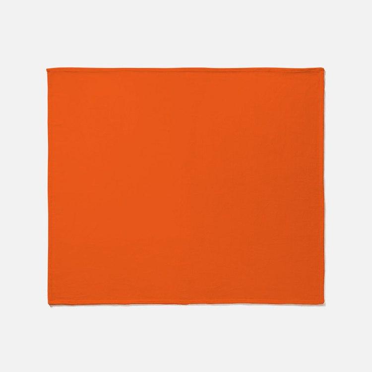 Bright Orange Throw Blankets Bright Orange Fleece