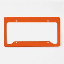 modern plain orange License Plate Holder