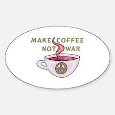 MAKE COFFEE NOT WAR Decal