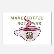 MAKE COFFEE NOT WAR Postcards (Package of 8)