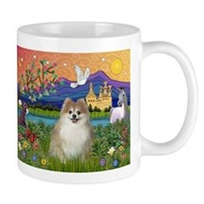 Pomeranian in Fantasyland Mug