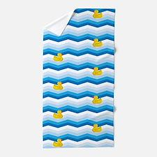 Duck Duck Duck Pattern Beach Towel