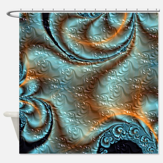 Fractal Flourish Shower Curtain