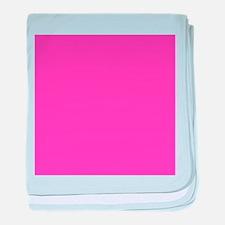 girly fuschia pink baby blanket