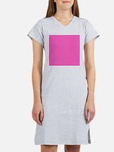 girly fuschia pink Women's Nightshirt