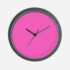 girly fuschia pink Wall Clock
