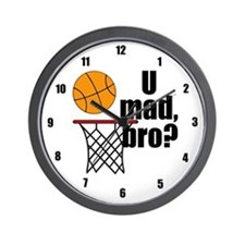 U Mad Bro? Wall Clock