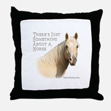 Something About A Horse Throw Pillow