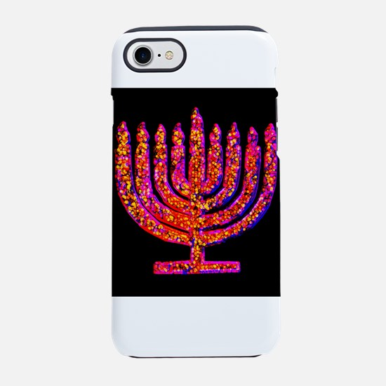Pink Black Menorah 4Hannah iPhone 7 Tough Case