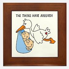 Stork Twins Have Arrived Framed Tile