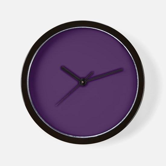 modern eggplant purple Wall Clock