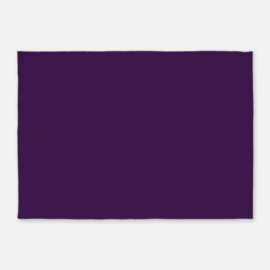 modern eggplant purple 5'x7'Area Rug