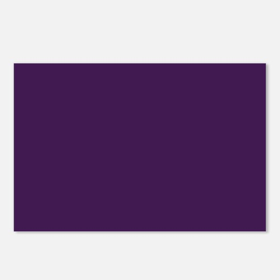 modern eggplant purple Postcards (Package of 8)