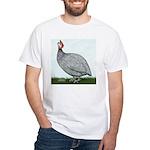 Lavendar Guinea White T-Shirt