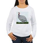 Lavendar Guinea Women's Long Sleeve T-Shirt