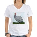 Lavendar Guinea Women's V-Neck T-Shirt
