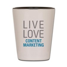 Content Marketing Shot Glass