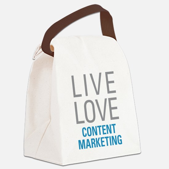 Content Marketing Canvas Lunch Bag