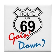 Route 69 Sign (Sixty-Nine) Tile Coaster