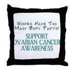 WOMEN HAVE TOO MANY PARTS, OVARIAN CANCER Throw Pi