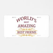 Best Friend Aluminum License Plate