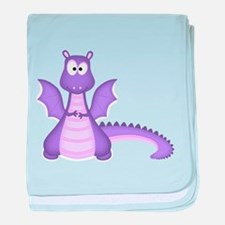 Purple Dragon baby blanket