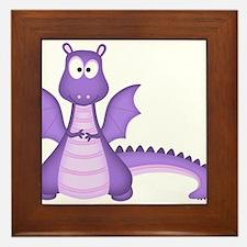 Purple Dragon Framed Tile