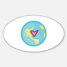 PLANET EARTH WITH HEART Decal