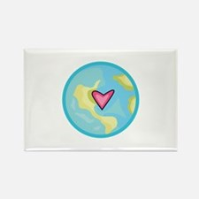 PLANET EARTH WITH HEART Magnets