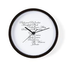 Austen Wall Clock