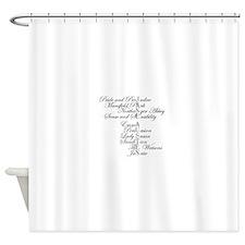 Unique Pride and prejudice Shower Curtain