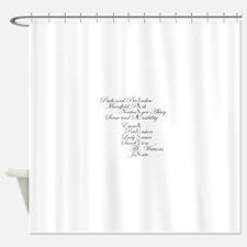 Unique Word Shower Curtain