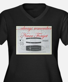 Never Forget - Slave Ships Plus Size T-Shirt