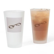 silver handcuffs photo 2 Drinking Glass