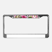 Animal Print Flower License Plate Frame